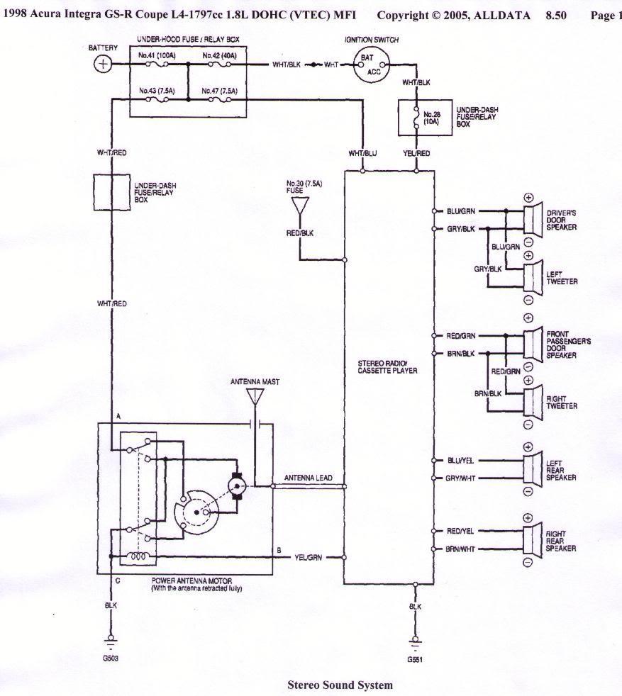Acura Car Manuals Wiring Diagrams Pdf Fault Codes. 1998 Acura Integra Gsr Coupe 16 Ewd. Acura. 2000 Acura Tl Rear Diagram At Scoala.co