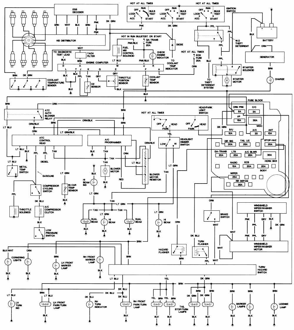1974 cadillac deville wiring diagram example electrical wiring rh cranejapan co 1999 Cadillac DeVille Wiring-Diagram 1965 Cadillac Wiring