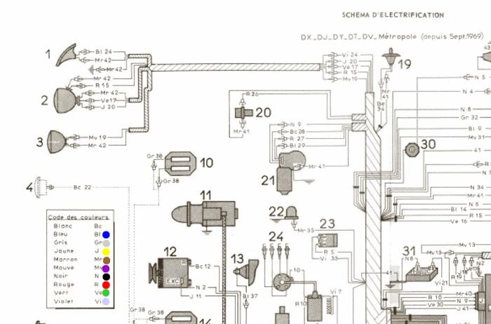 citroen 2cv wiring diagram rh 2cv verte fr