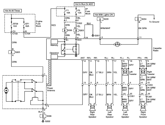 daewoo nubira electrical diagram