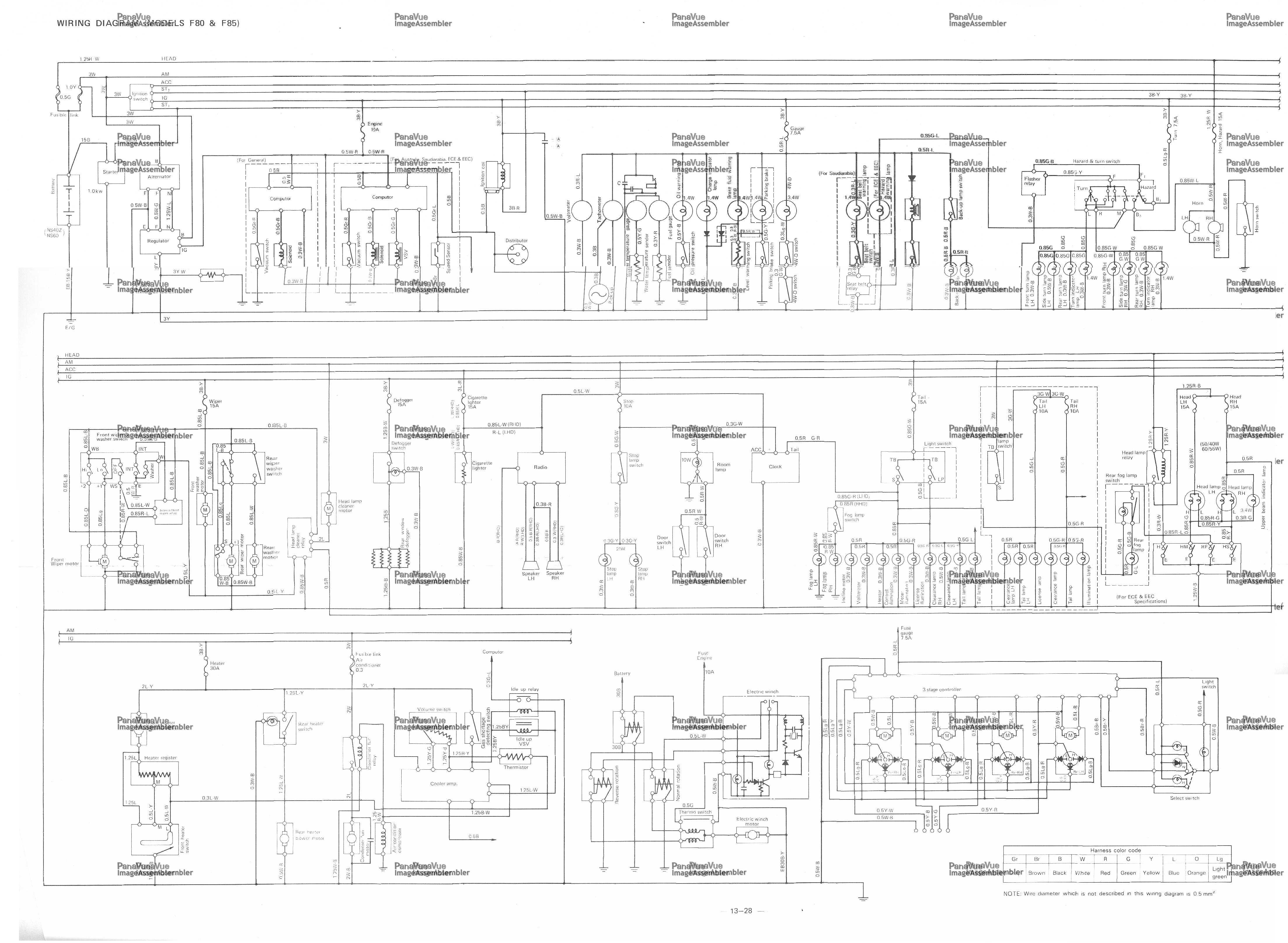 daihatsu car manuals wiring diagrams pdf fault codes rh automotive manuals net Wiring Diagram Symbols daihatsu feroza electrical diagram