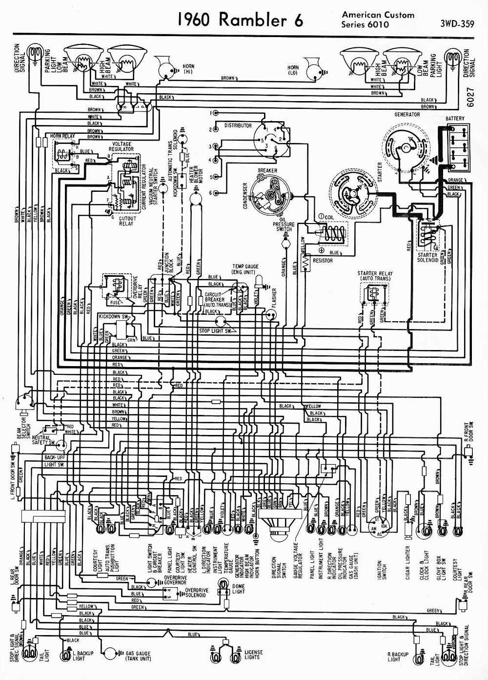 Amc Wiring Diagram Schematic Diagrams Hornet 1967 Rambler American Trusted Snatch Block Car Manuals