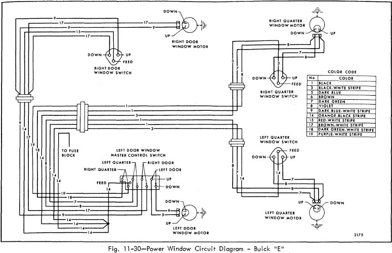 power window circuit diagram of 1966 buick 49000 series 2002 buick regal powe window wiring diagram buick wiring 1997 Buick LeSabre Engine Diagram at gsmx.co