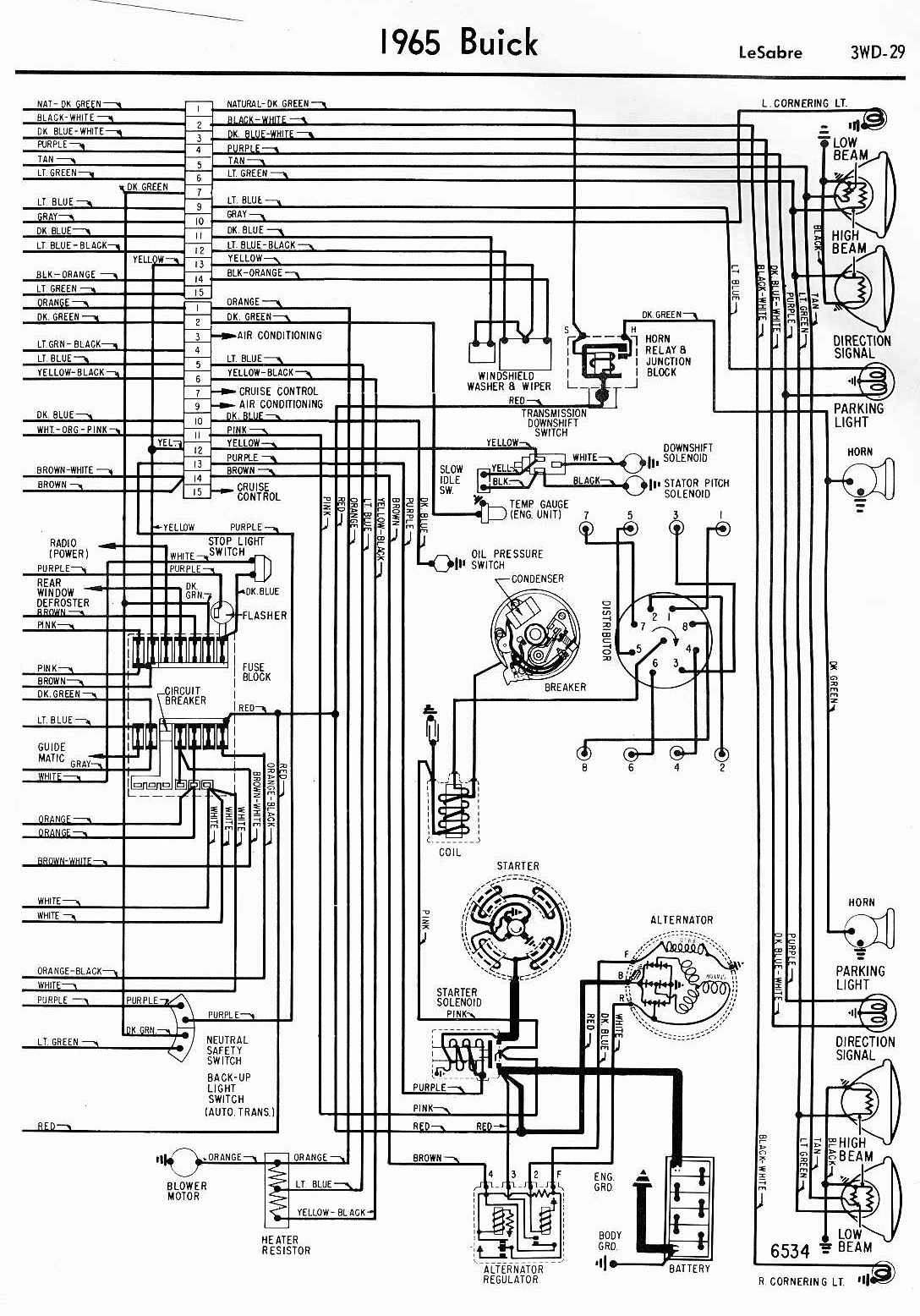 Complete Wiring Diagram Of 1938 Buick Roadmaster