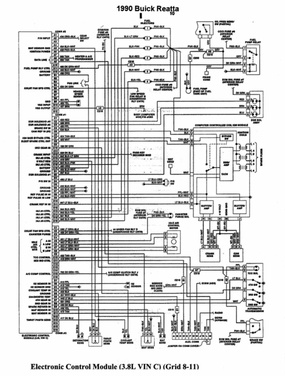 1990 buick reatta fuse box diagram enthusiast wiring diagrams u2022 rh rasalibre co 1996 Buick Century Wiring-Diagram 1990 buick century radio wiring diagram