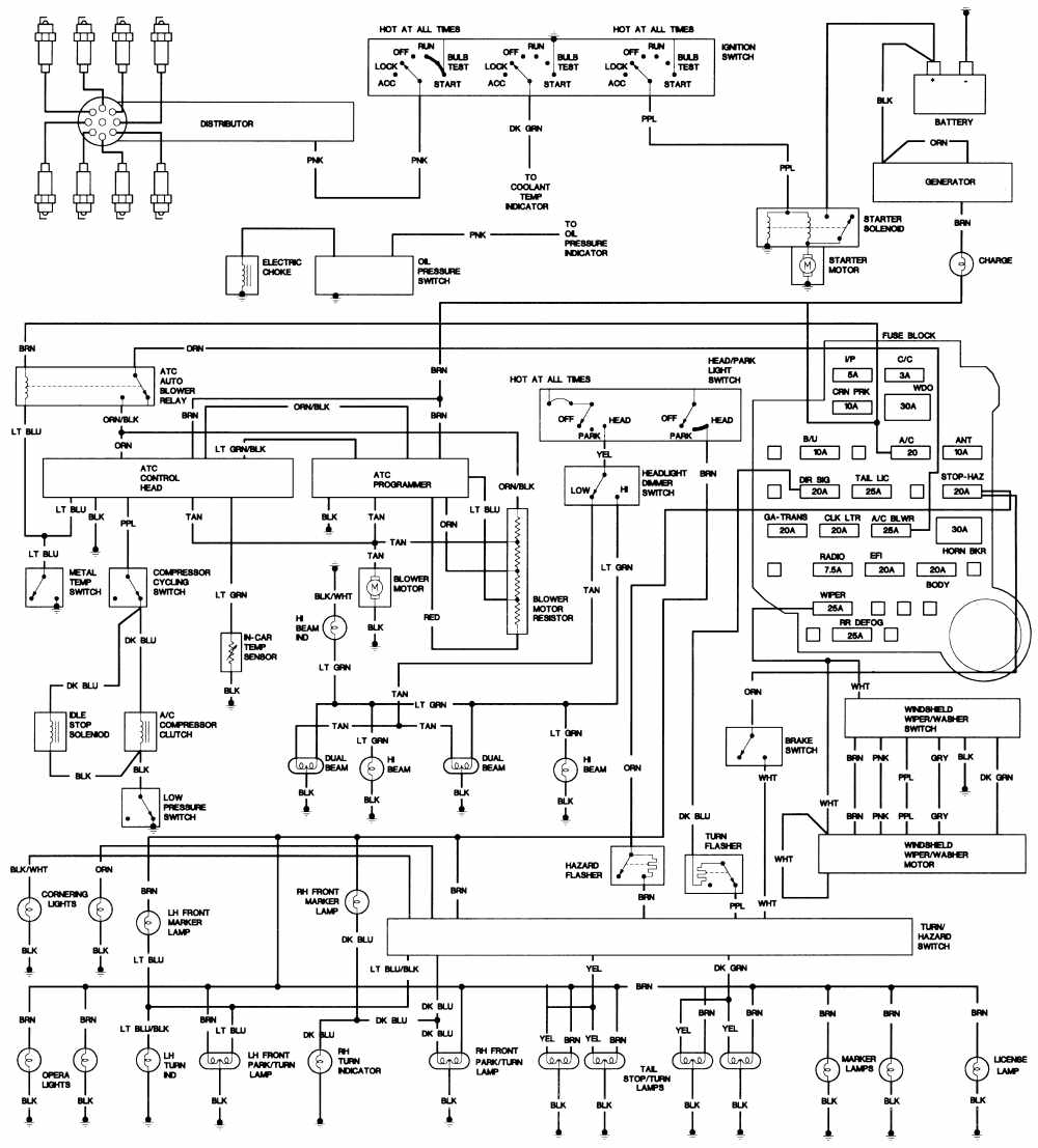 1993 cadillac seville fuse box easy wiring diagrams u2022 rh art isere com 1999 Cadillac DeVille Wiring-Diagram 92 cadillac deville wiring diagram for radio