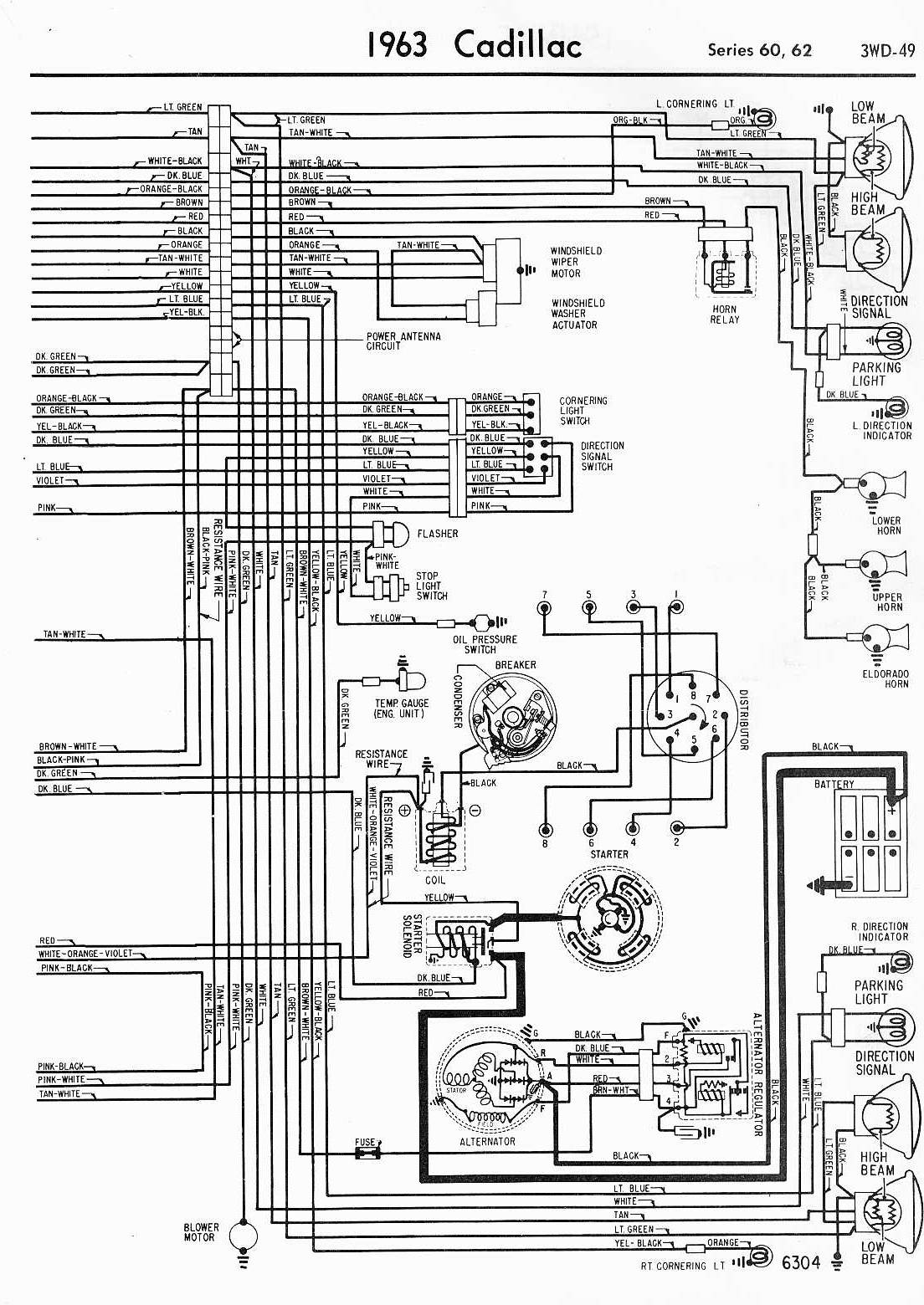 cadillac car manuals wiring diagrams pdf fault codes rh automotive manuals net 1962 cadillac deville wiring diagram Cadillac DeVille Wiring-Diagram