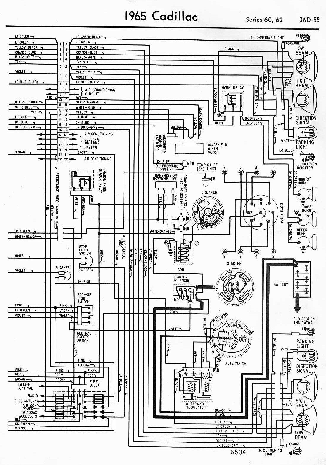 65 Cadillac Wiring Diagram - Wiring Diagram •