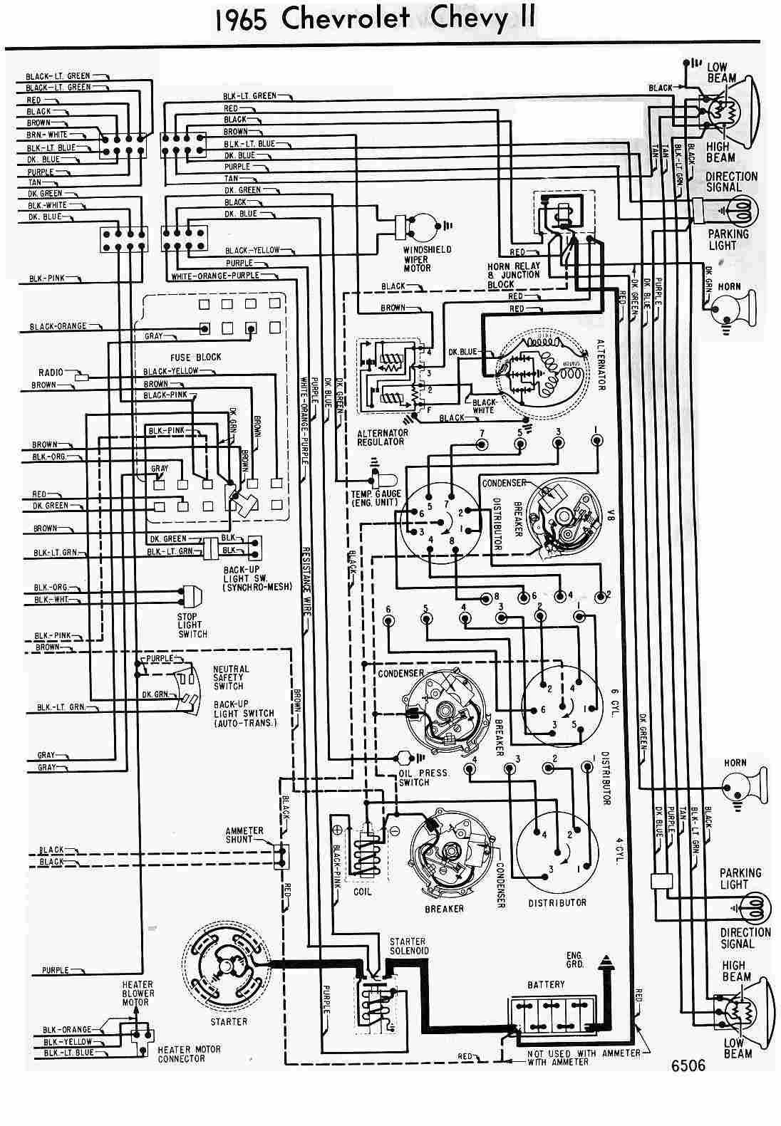 wiring diagram diagram of 1965 chevrolet chevy ii?t=1508393184 chevrolet car manuals, wiring diagrams pdf & fault codes chevrolet wiring diagrams free download at fashall.co