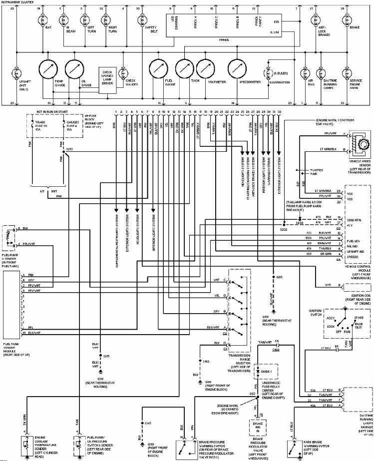 instrument cluster wiring diagram of 1997 chevrolet pickup c1500?t=1516083422 chevrolet car manuals, wiring diagrams pdf & fault codes 1997 chevrolet s10 wiring diagrams at suagrazia.org