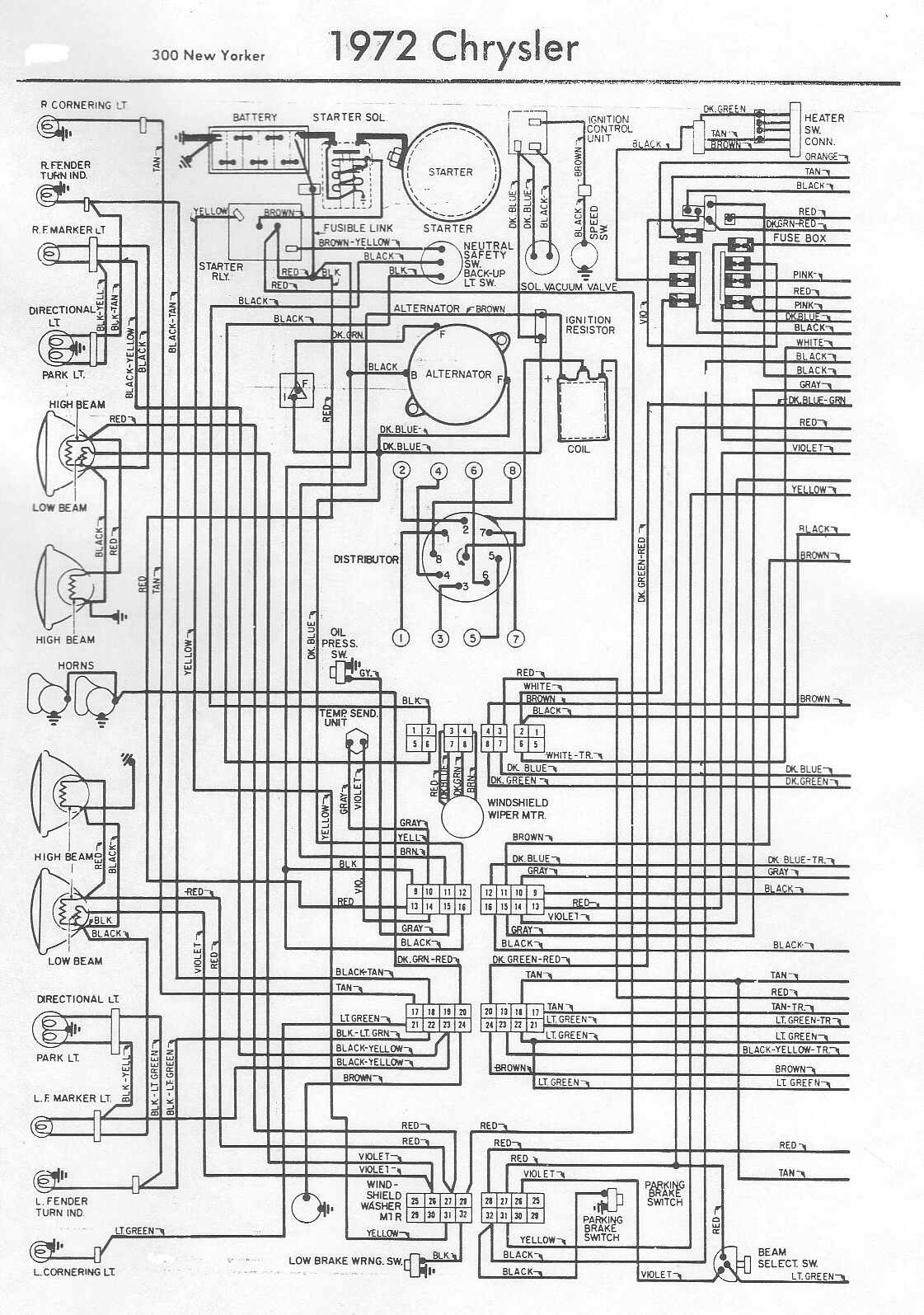 electrical wiring diagram of 1972 chrysler 300 new yorker?t=1508393590 chrysler car manuals, wiring diagrams pdf & fault codes chrysler 300m wiring diagram at readyjetset.co