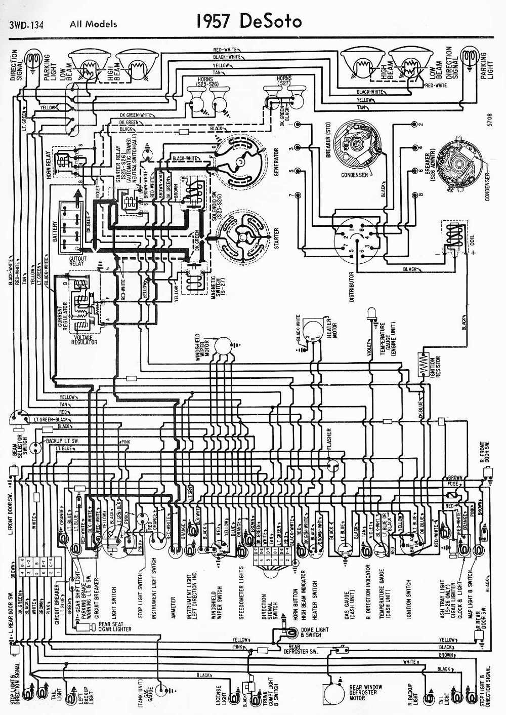 Desoto Gas Gauge Wiring Diagram Schematic Diagrams 1950 For Electrical Cover
