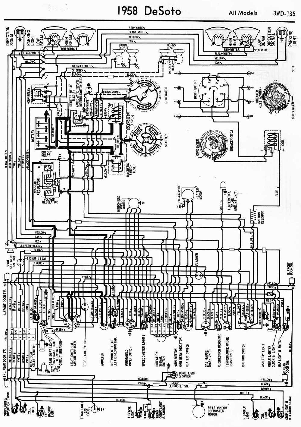1955 Chrysler Wiring Auto Electrical Diagram Starting Circuit For The Mercury All Models Desoto 1959 Fireflite U2022 Mifinder Co