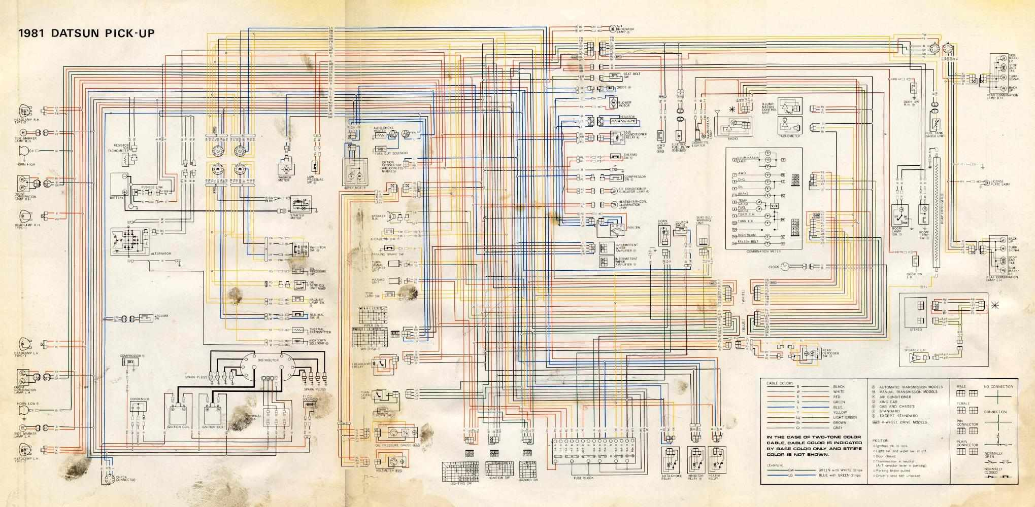 Nissan D21 Alternator Wiring Diagram