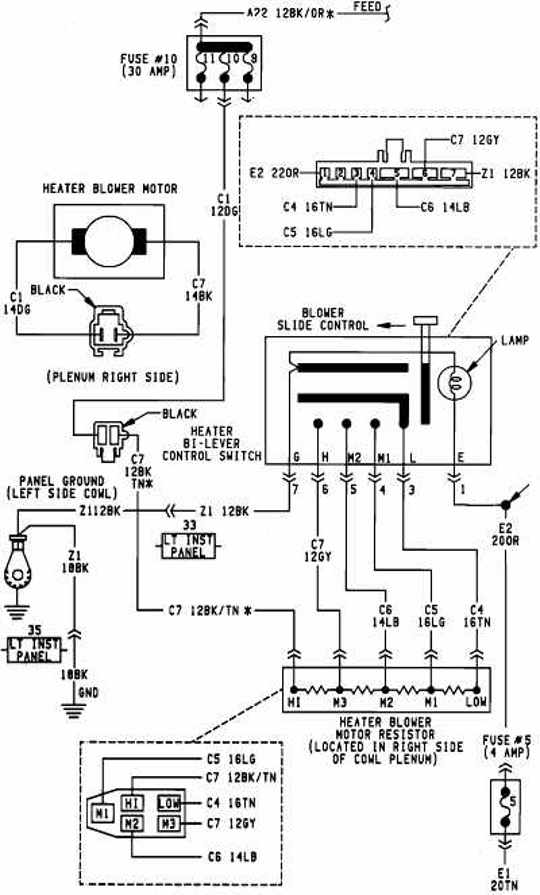 dodge car manuals wiring diagrams pdf fault codes rh automotive manuals net 1995 GMC Blower Motor Wiring Schematic Furnace Blower Motor Wiring