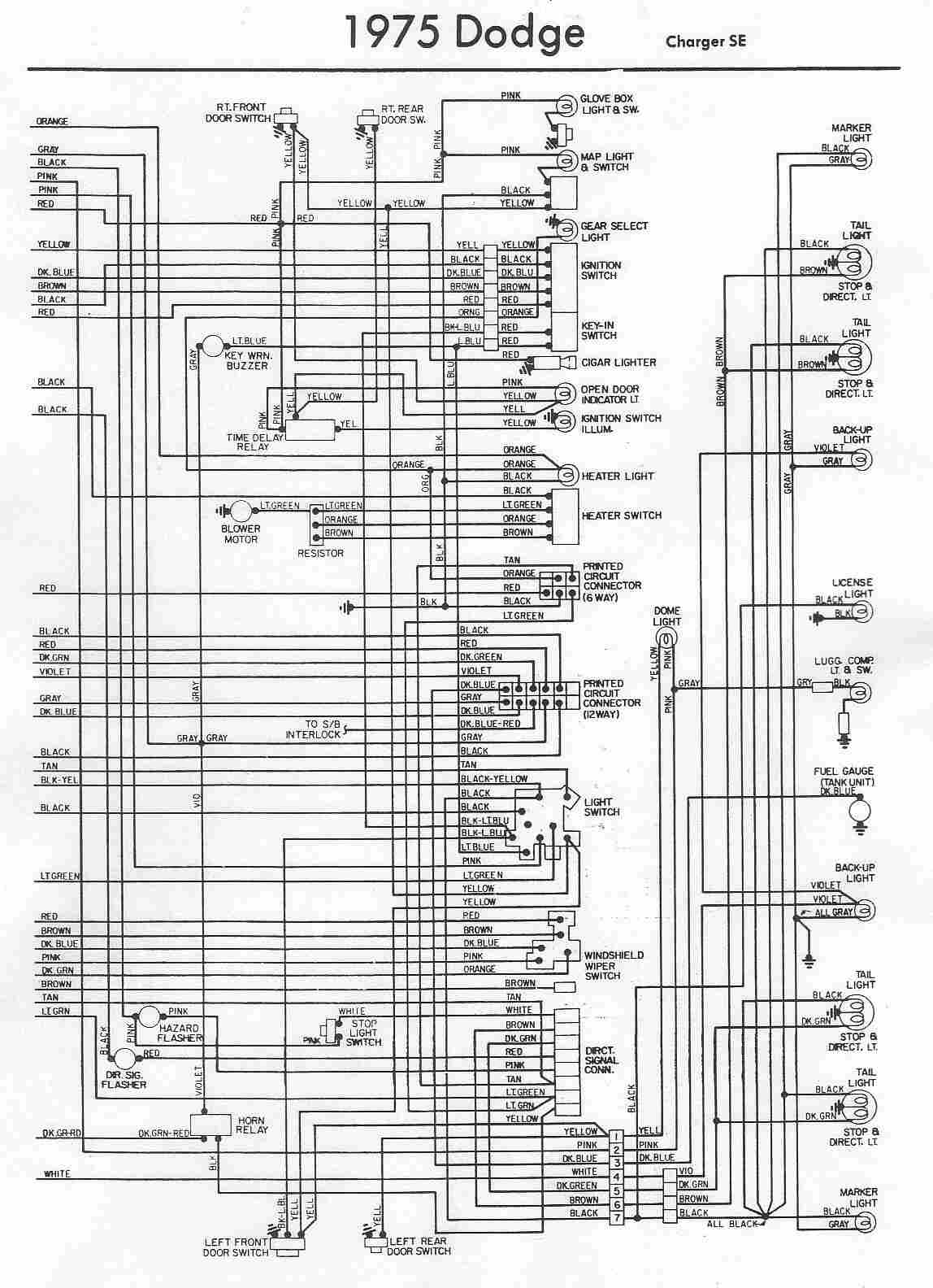 dodge car manuals, wiring diagrams pdf & fault codes 1975 dodge truck wiring 1971 dodge charger radio wiring diagram #39