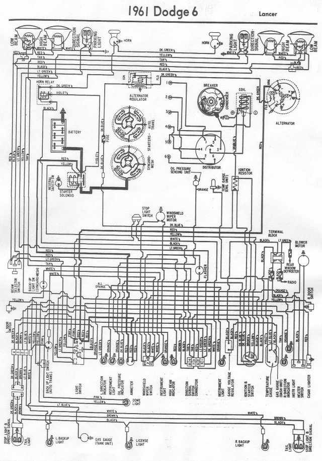 electrical wiring diagram of 1961 dodge 6 lancer?t=1508404780 dodge car manuals, wiring diagrams pdf & fault codes Dodge Ram 1500 Electrical Diagrams at nearapp.co