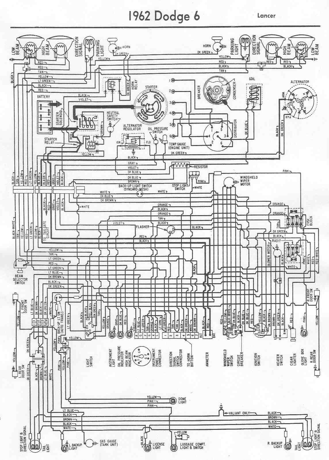 1957 Dodge Wiring Diagram Schematics D100 1955 Coronet 1952 Wire Diagrams 2012 Charger