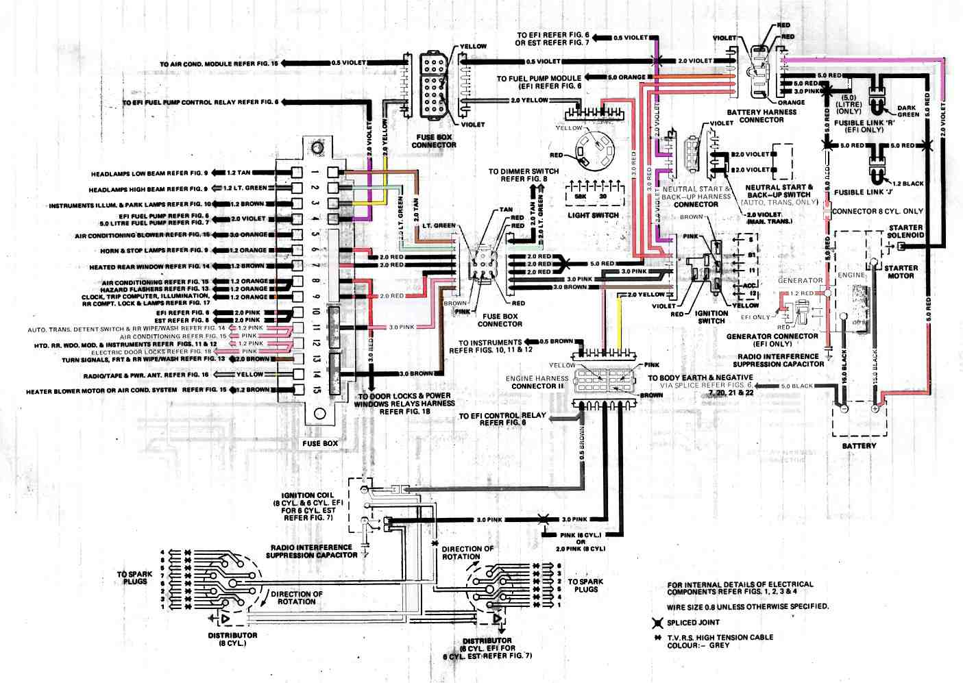 Wb Holden Wiring Diagram Page 3 And Schematics Lx Torana Car Manuals Diagrams Pdf Fault Codes Rh Automotive Net Vs V8