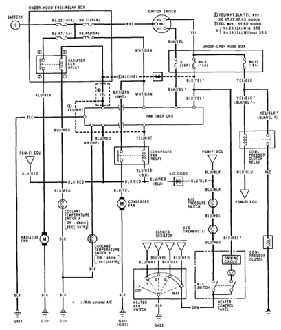 air conditioner schematic wiring diagram honda prelude air wire rh linxglobal co