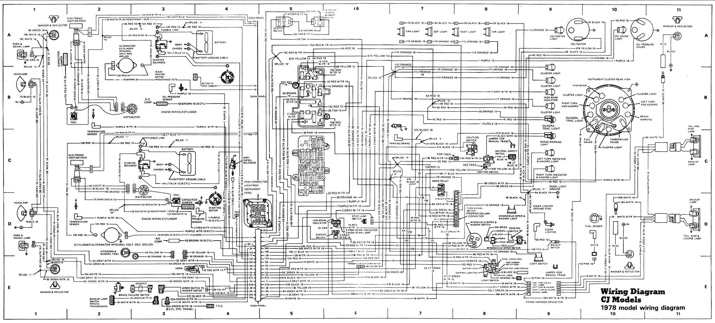 Wiring Harness For Cj7 Cj3b 4.6l Triton Engine Cylinder Diagram ...