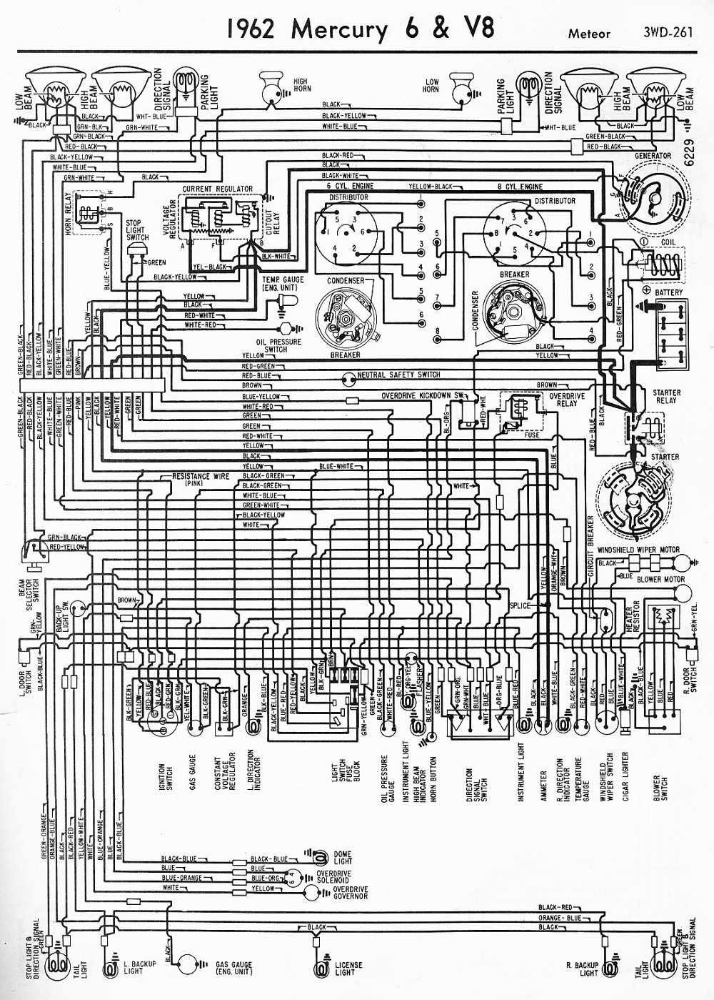 wiring diagrams of 1962 mercury 6 and v8 meteor?t=1508498122 mercury car manuals, wiring diagrams pdf & fault codes mercury milan wiring diagram at bayanpartner.co