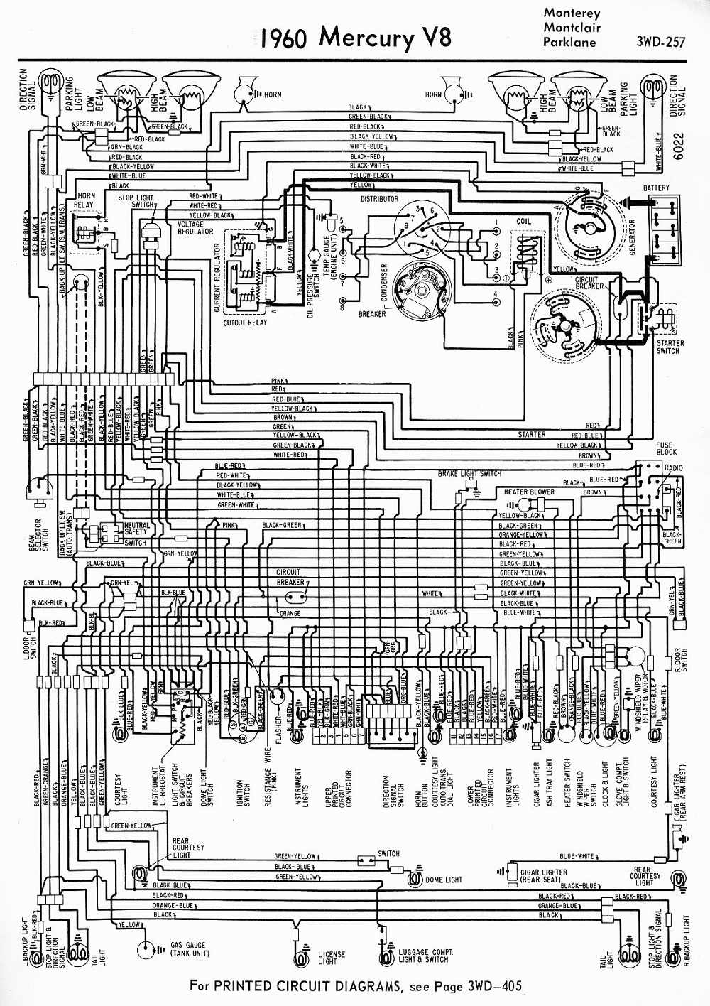 1966 Mercury Wiring Diagram Data 1957 Cadillac 1954 Monterey Diagrams Source Charging System