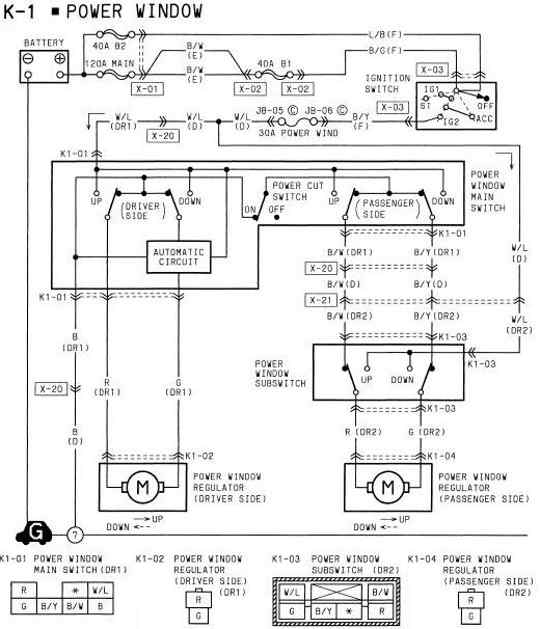 Winder Window Wiring Diagram 2000 Mazda Miata Mazda Auto