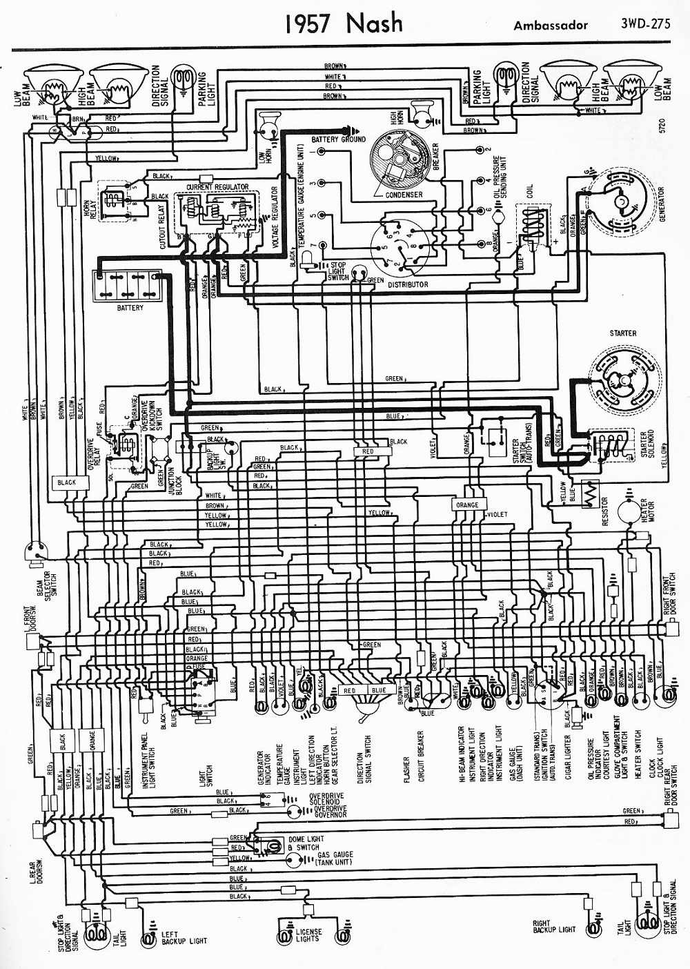 1949 Packard Wiring Diagram 1948 Willys Jeep 1950 Hudson