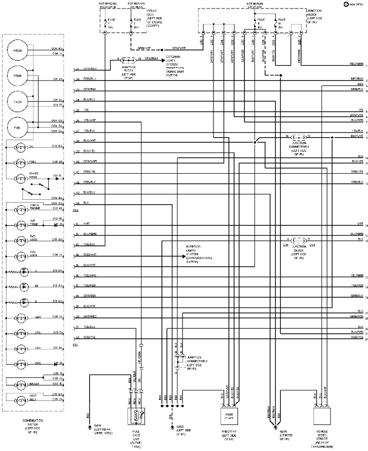 1994 Mitsubishi Montero Instrument Cluster Circuit Schematic Diagram 1 mitsubishi instrument cluster wiring diagram mitsubishi wiring 3000GT Wide Body Kit at gsmportal.co