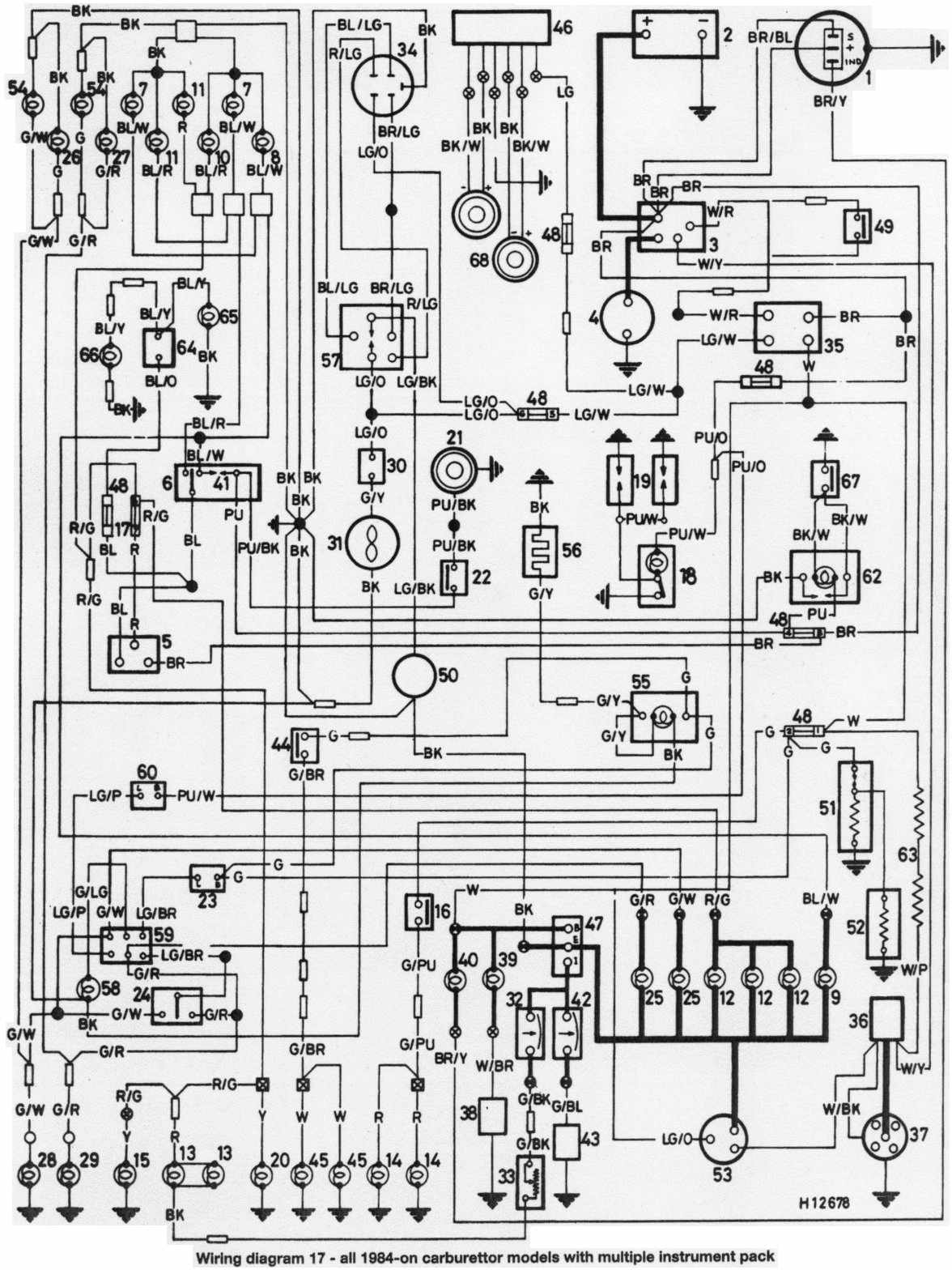 wiring diagram of 1984 onwards all mini series with multiple instrument pack morris minor wiring diagram dolgular com austin healey sprite wiring diagram at virtualis.co
