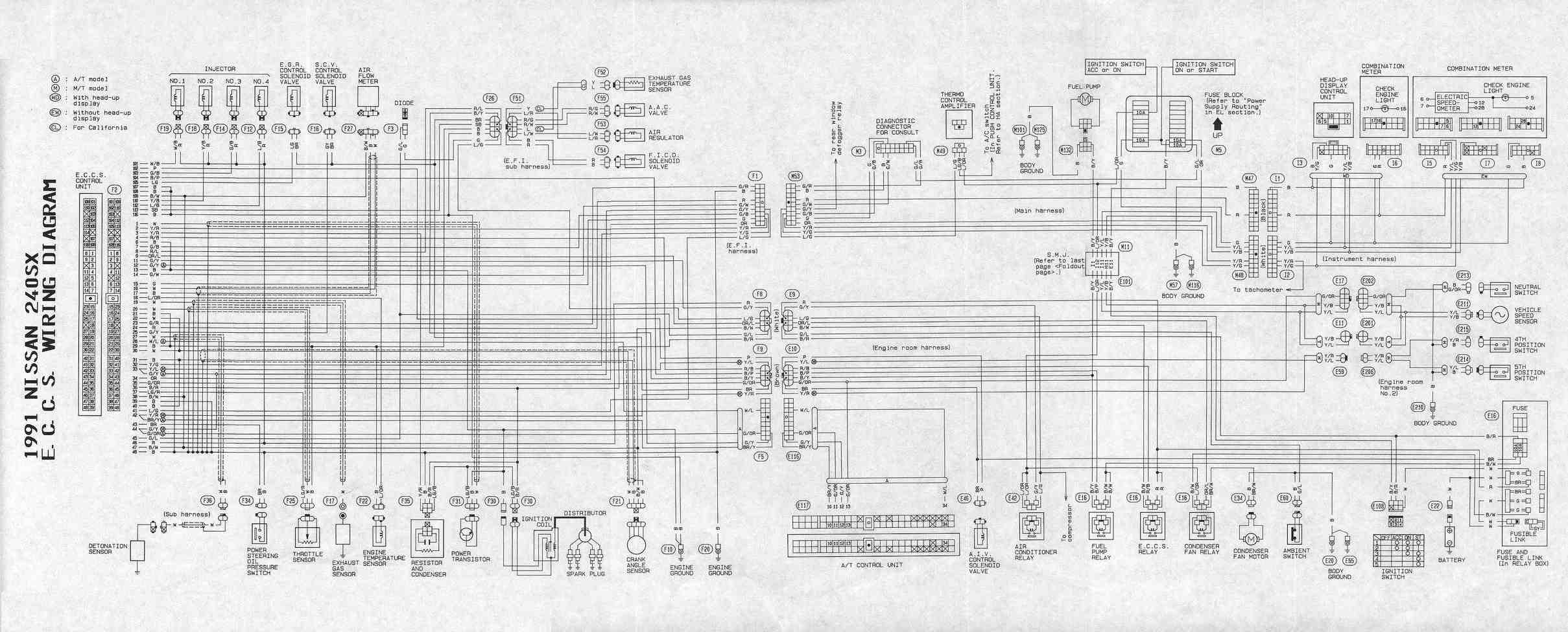 S13 Wire Diagram Simple Wiring Schema Free Auto Diagrams Harness Test Point 240sx Detailed