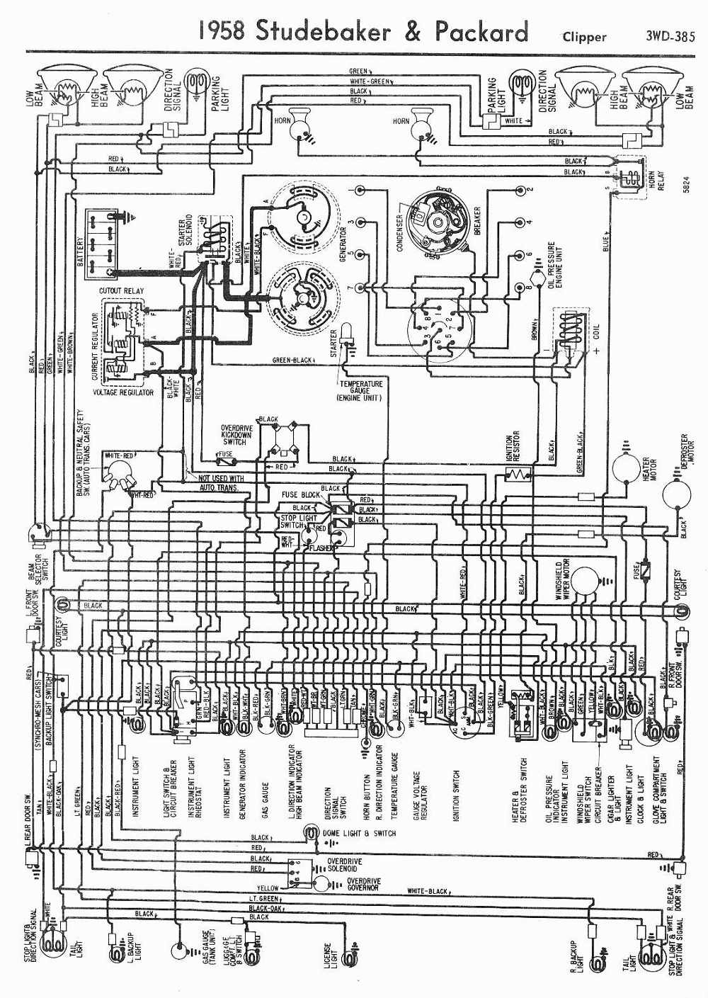 Packardcar Wiring Diagram Wire Data Schema Circuits Gt Tv Signal Amplifier Circuit With Bfr90 Transistor L37522 Packard Car Manuals Diagrams Pdf Fault Codes Rh Automotive Net Hvac Basic Electrical Schematic