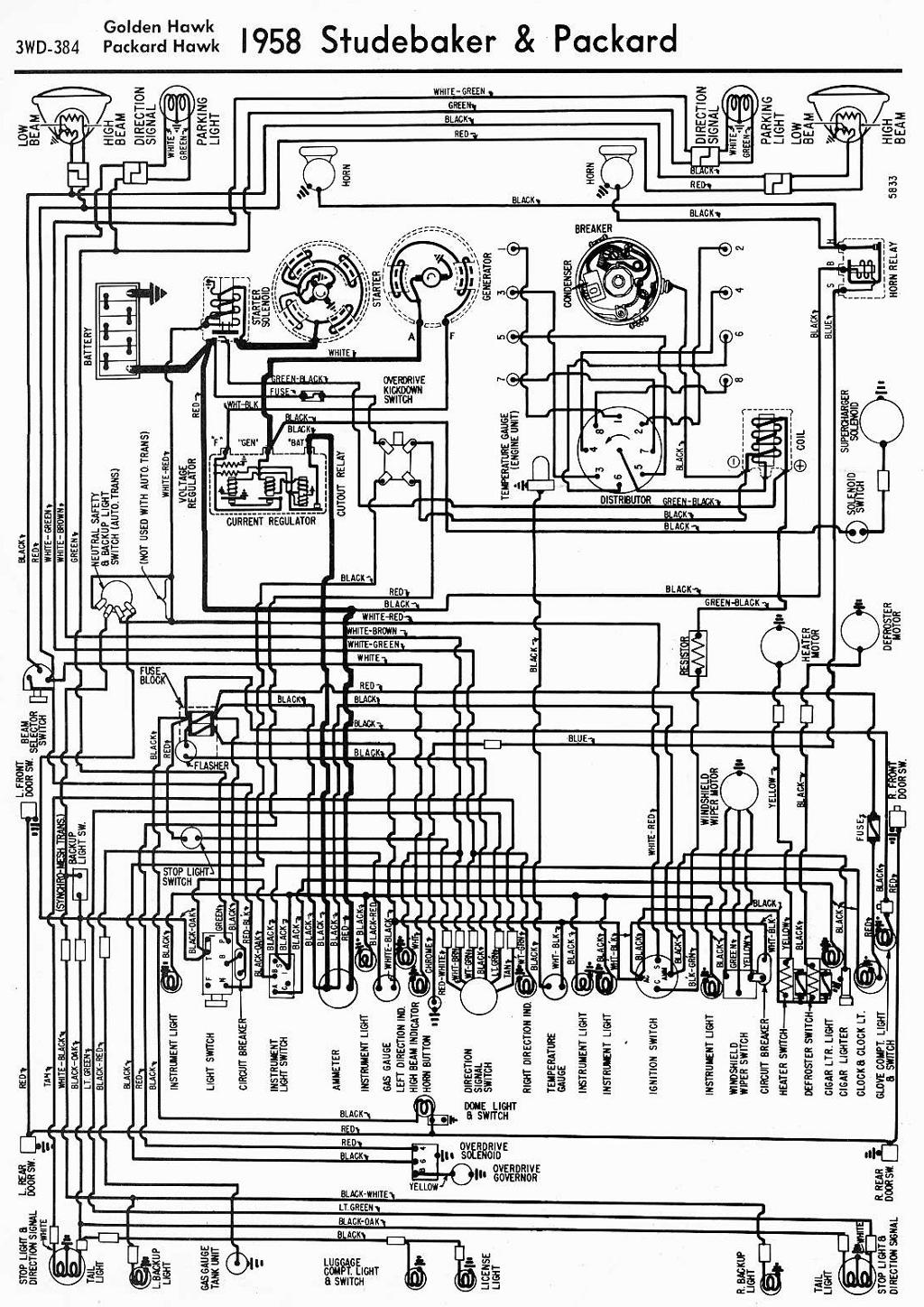 1958 Opel Wiring Diagram Electrical Diagrams Packard Car Manuals Pdf Fault Codes Rh Automotive Net 1962 1961