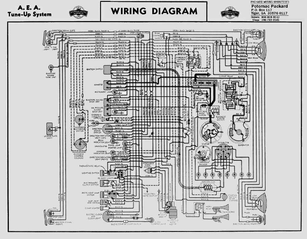 Packard Wiring Diagram - Wiring Diagrams Best on 1952 dodge truck electrical schematic, dodge truck bed wiring schematic, 1977 ramcharger ignition schematic,