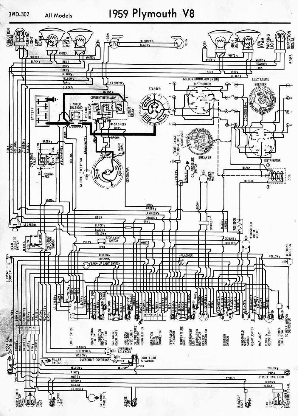 Plymouth Car Diagram Electrical Wiring Diagrams 1942 1946 1947 1948 Color Of 1958 6 All Models Wire Data Schema U2022 Honda