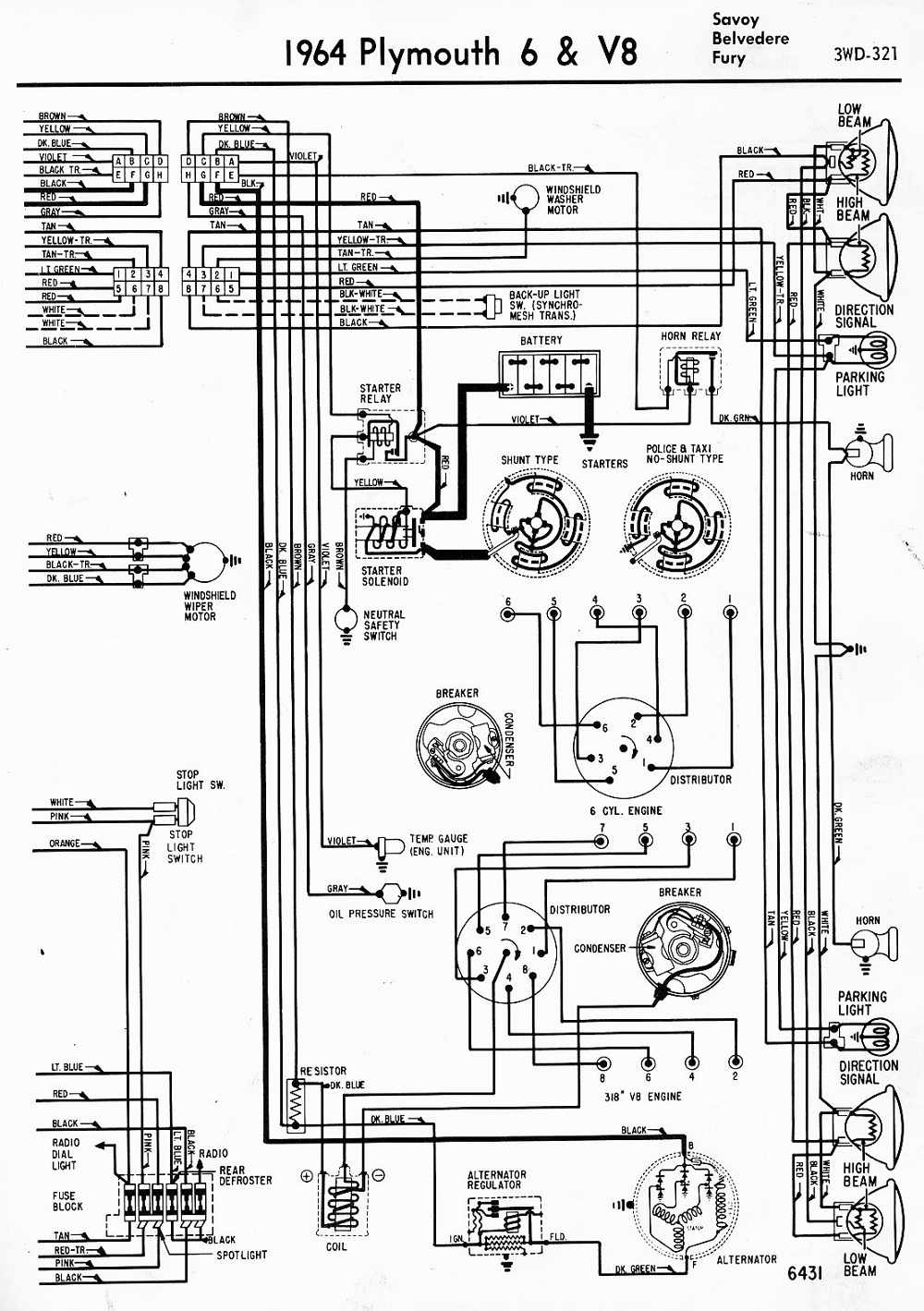 1956 plymouth belvedere wiring diagram