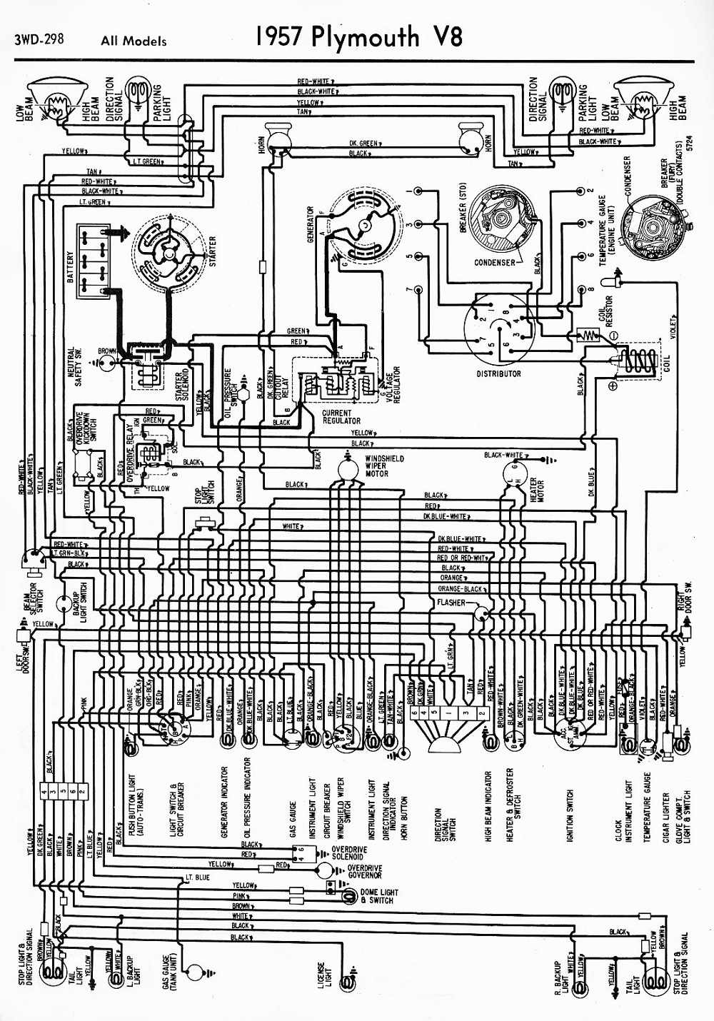 Plymouth Wiring Diagrams Electrical Diagram Schematics 1952 Schematic Car Manuals Pdf Fault Codes Sundance Hatchback