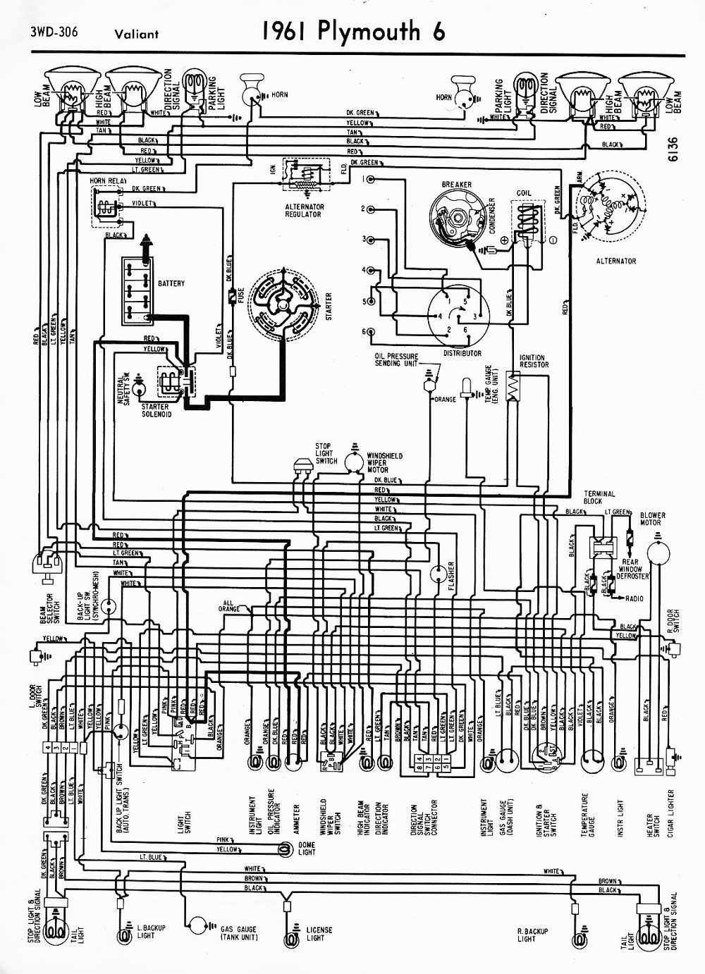 1954 Mopar Wiring Diagrams Free Diagram For You Voltage Regulator Plymouth Belvedere 38 Ignition Switch