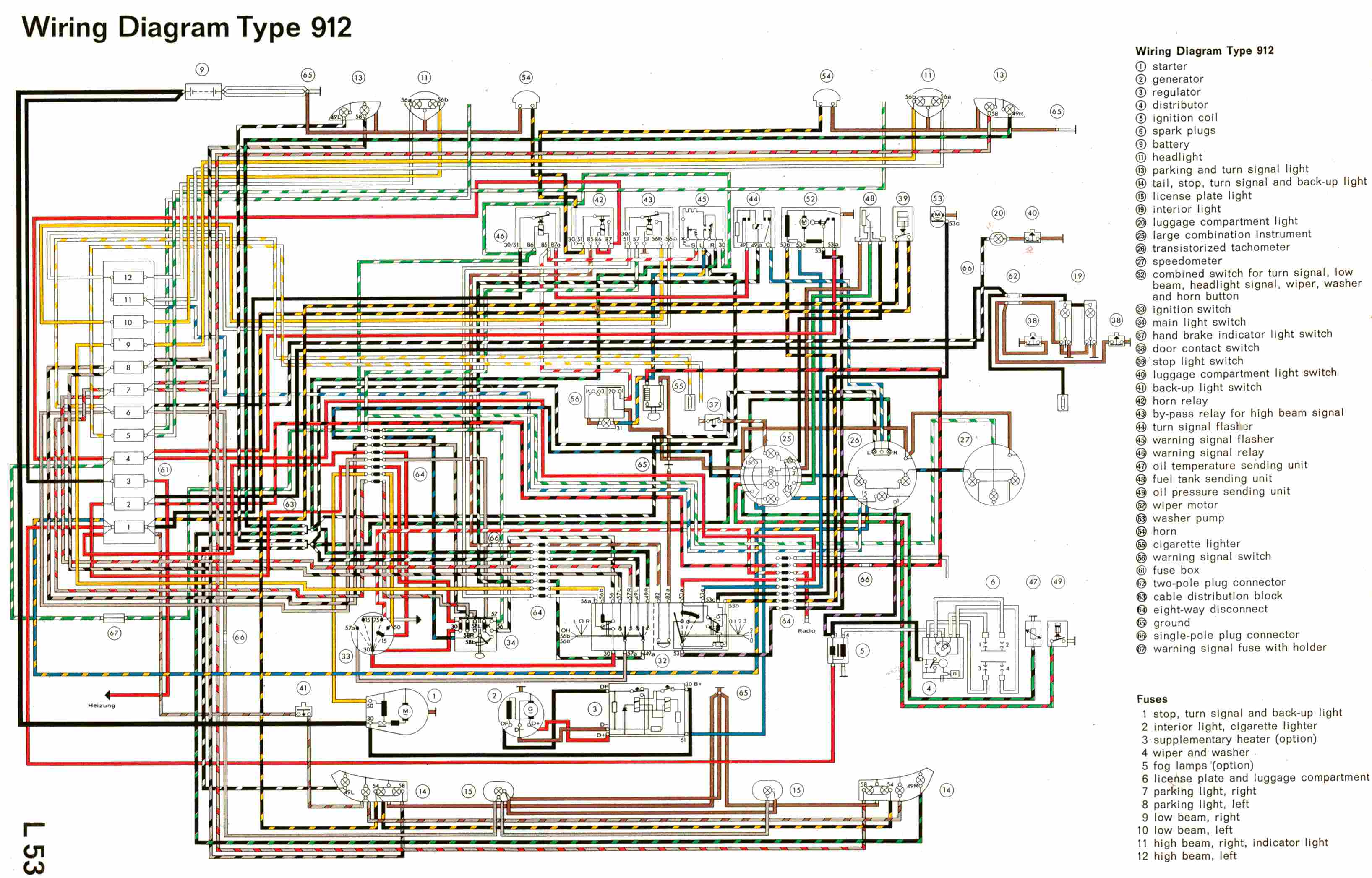 complete electrical wiring diagram of porsche type 912?t=1508746814 porsche car manuals, wiring diagrams pdf & fault codes porsche 944 wiring diagram pdf at aneh.co