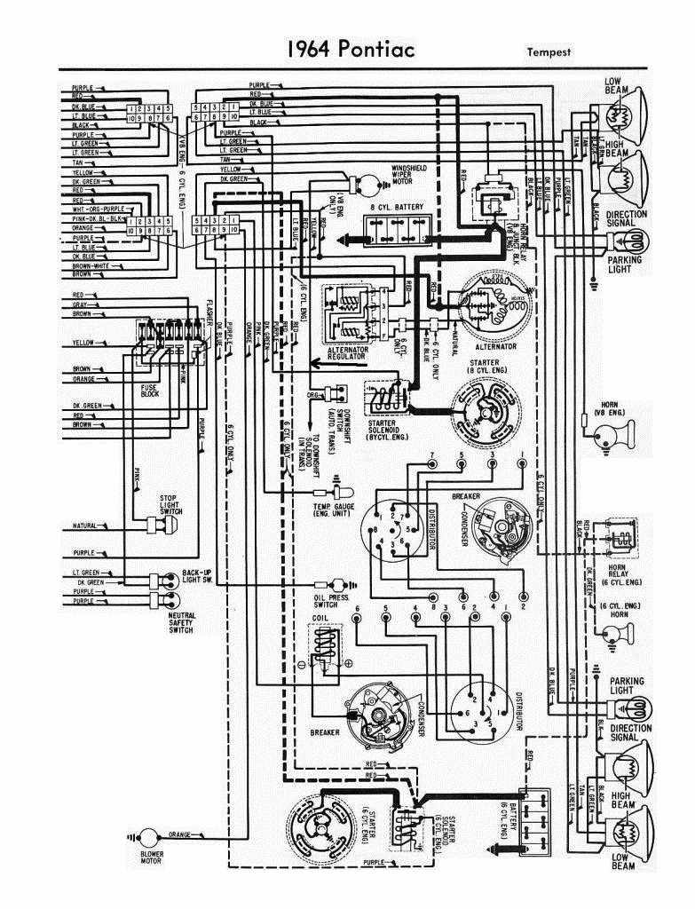 electrical wiring diagram of 1964 pontiac tempest?t=1508746318 pontiac car manuals, wiring diagrams pdf & fault codes 1967 pontiac gto wiring diagram at creativeand.co