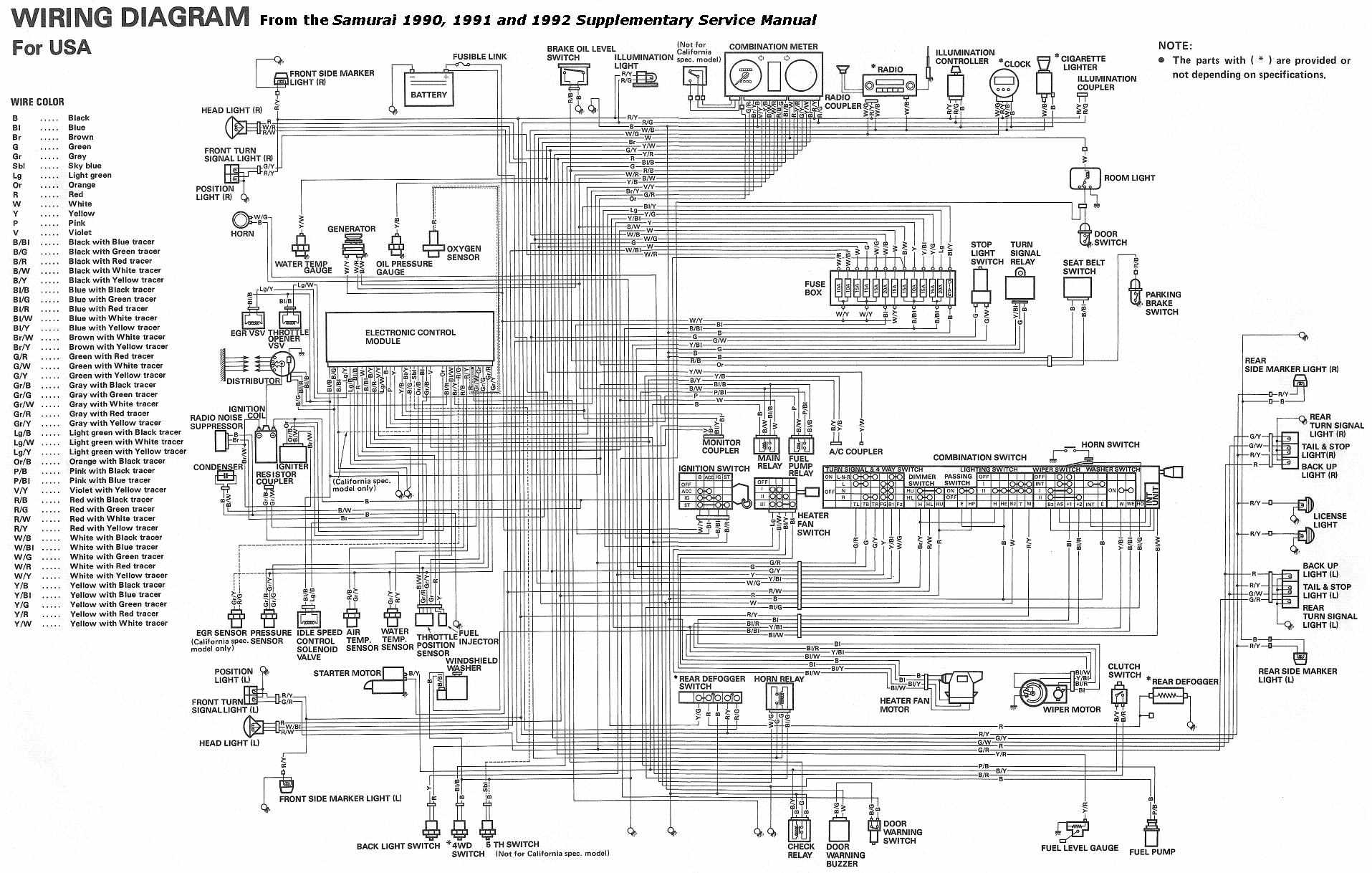 complete electrical wiring diagram of 1990 1992 suzuki samurai?t=1508754855 suzuki car manuals, wiring diagrams pdf & fault codes suzuki ertiga wiring diagram at bakdesigns.co