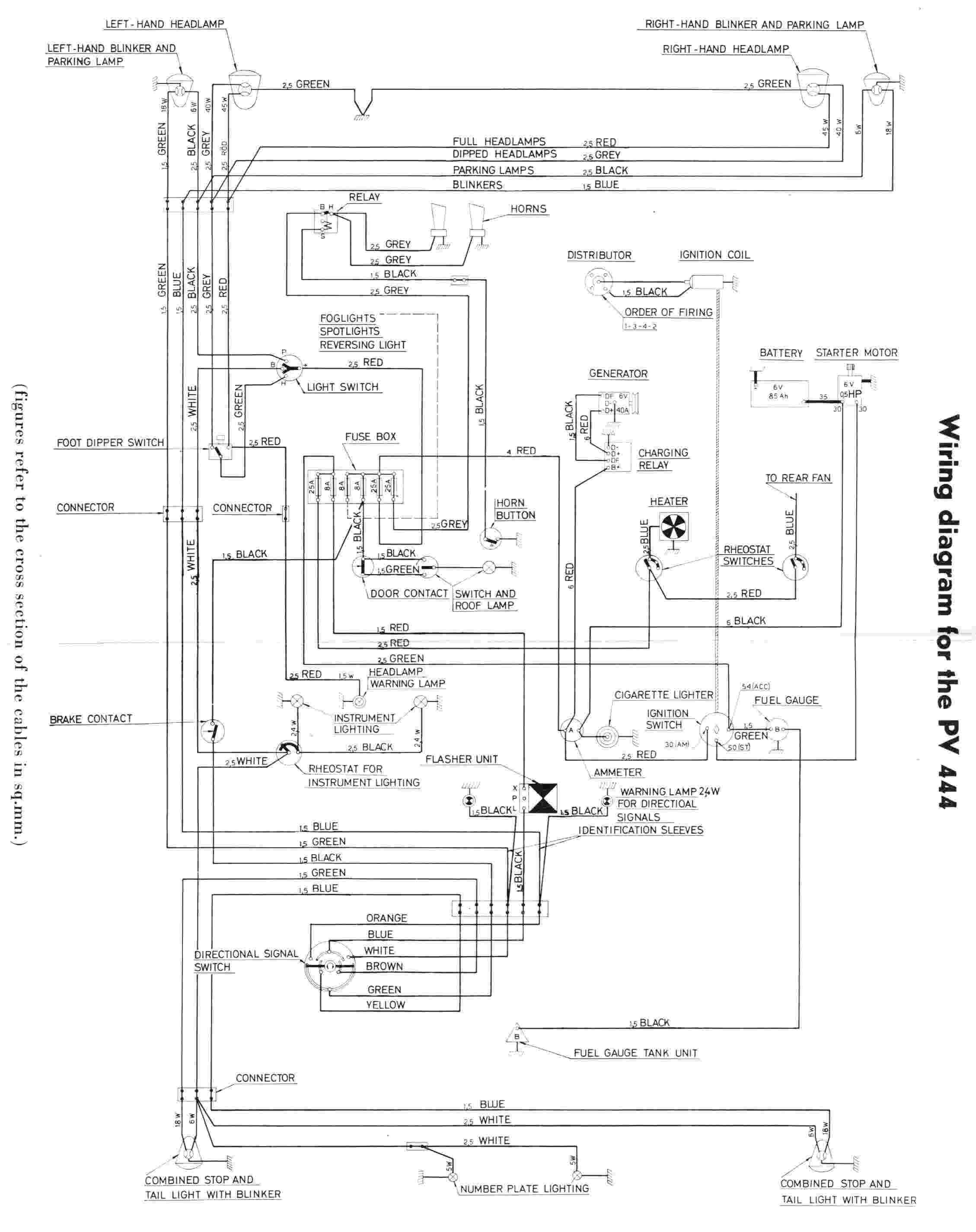 electrical wiring diagram of volvo pv444 volvo vn air horn wiring diagram air horn solenoid, air horn volvo vnl truck wiring diagrams at edmiracle.co