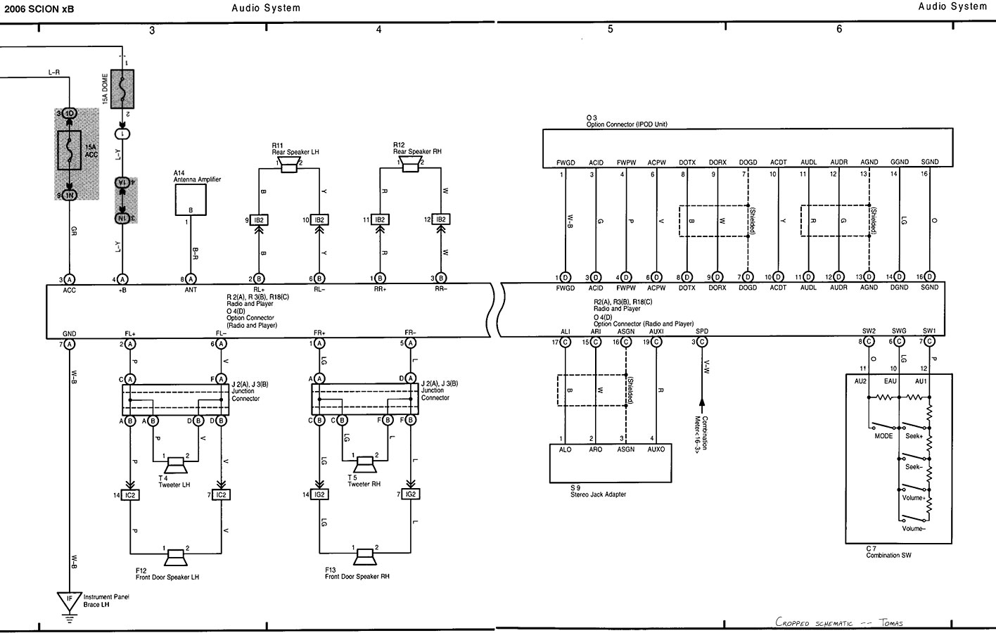 Scion Xd Stereo Wiring Diagram Schematic Home Diagrams 2011 Xb Onkyo