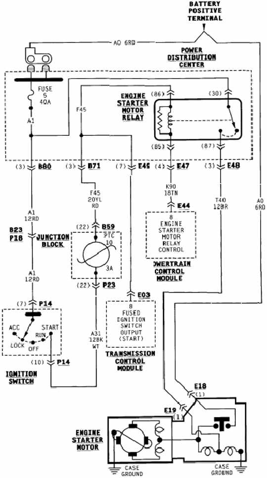 Starting System Schematic Wiring Of Dodge Grand Caravan on 1992 Dodge Dynasty Engine Diagram
