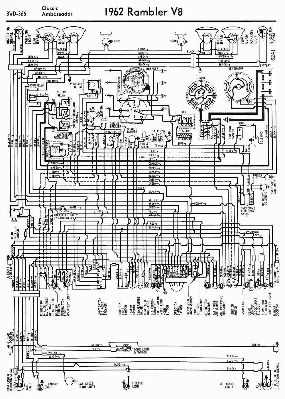 wiring-diagrams-of-1962-AMC-rambler-v8-clic-and-ambador Japanese Car Wiring Diagrams on