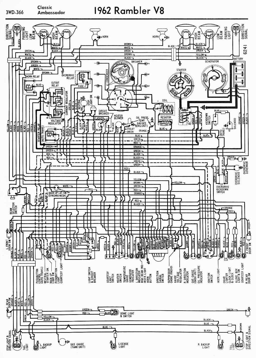 Amc Car Manuals Wiring Diagrams Pdf Fault Codes 1967 Rambler Rebel Diagram Download