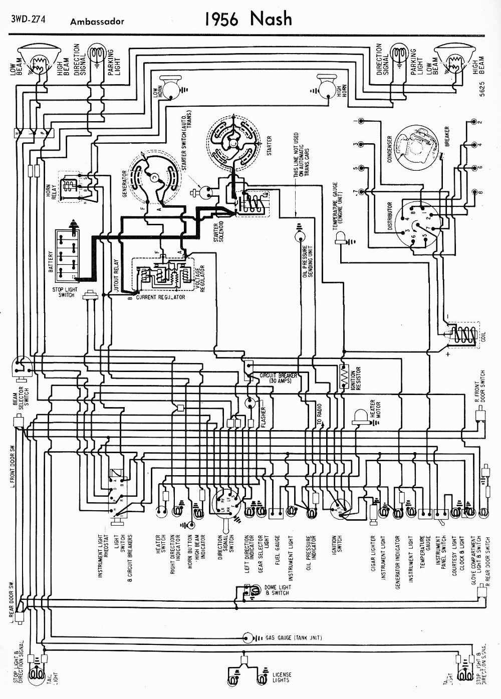 Nash Metropolitan Wiring Diagram Diagrams 1956 Ford Color Codes Car Manuals Pdf Fault 1959