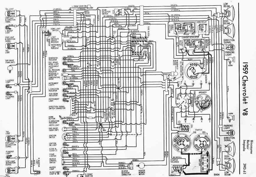 Electrical Wiring Diagram Of Chevrolet V Impala on 1959 Impala Wiring Diagram
