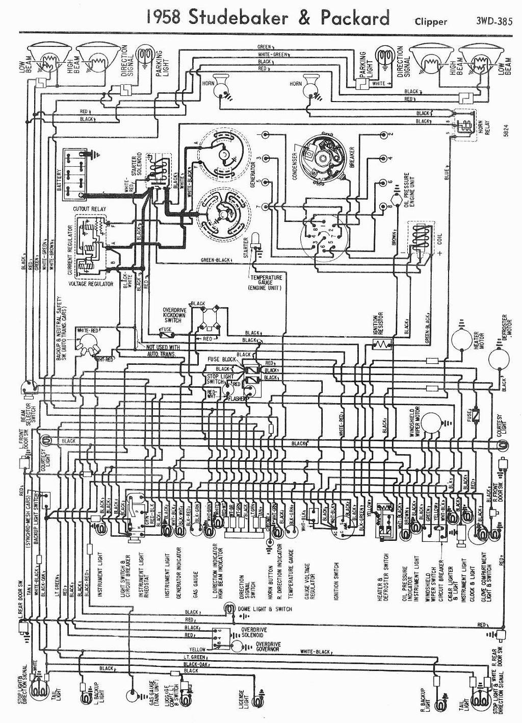 Packard Car Manuals Wiring Diagrams Pdf Fault Codes 1955 Diagram Download